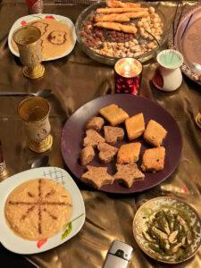 dulces árabes con miel