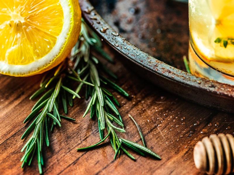 infusión con miel de romero